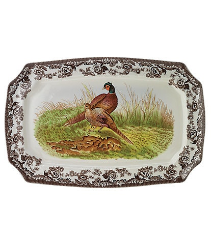 Spode Festive Fall Collection Woodland Pheasant Rectangular Platter