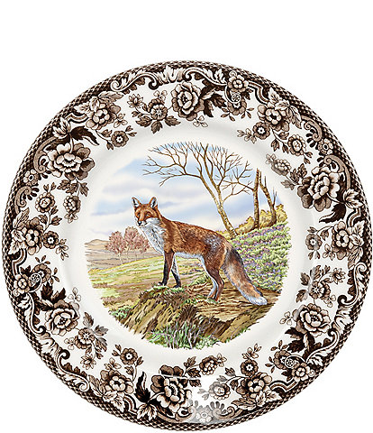 Spode Festive Fall Collection Woodland Red Fox Salad Plate
