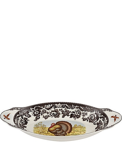 Spode Festive Fall Collection Woodland Turkey Bread Tray