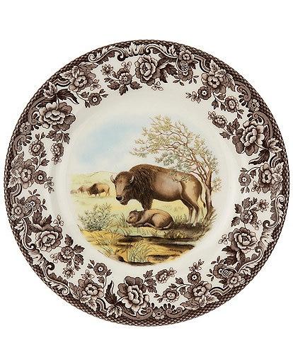 Spode Festive Fall Woodland Bison Salad Plate