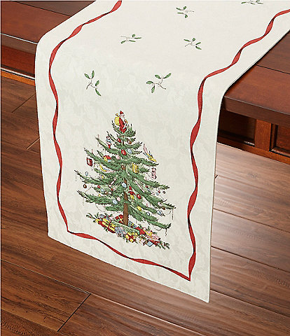 Spode Holiday Collection Christmas Tree Table Runner