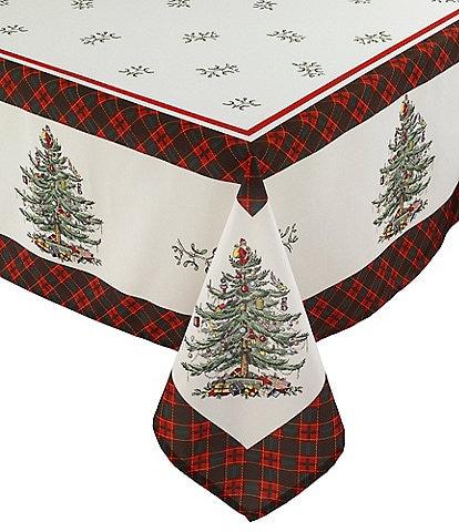Spode Holiday Tartan Collection Christmas Tree Table Linens