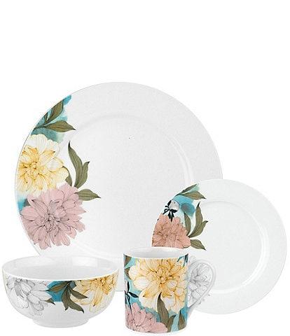 Spode Home Floral Sketches 16-Piece Dinnerware Set