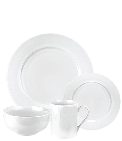 Spode Home Pearl White 16-Piece Dinnerware Set