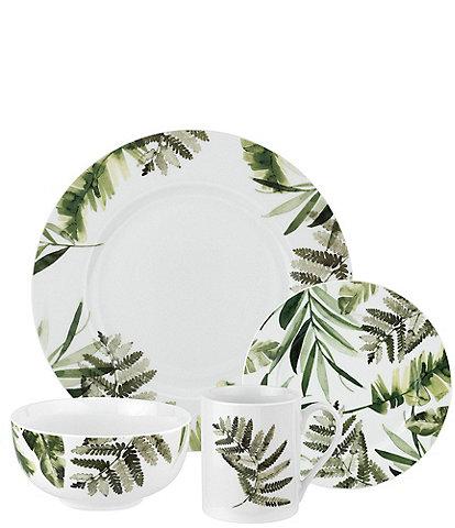 Spode Home Pressed Ferns 16-Piece Dinnerware Set