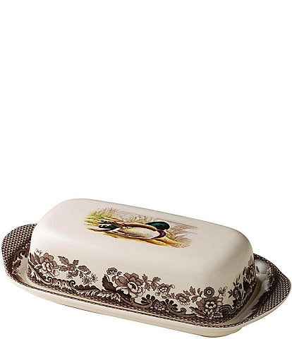 Spode Festive Fall Collection Woodland Covered Butter Dish