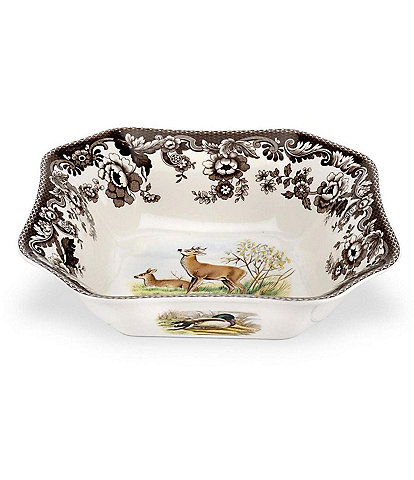 Spode Festive Fall Collection Woodland Deer Square Serving Bowl