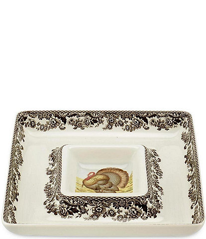 Spode Woodland Turkey Chip & Dip Server