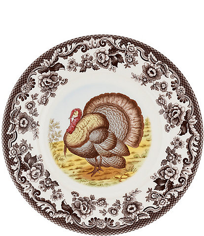 Spode Woodland Turkey Luncheon Plate