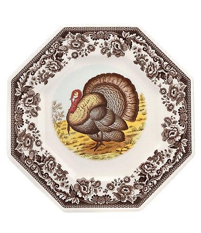 Spode Woodland Turkey Octagonal Platter
