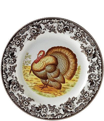 Spode Festive Fall Collection Woodland Turkey Round Platter