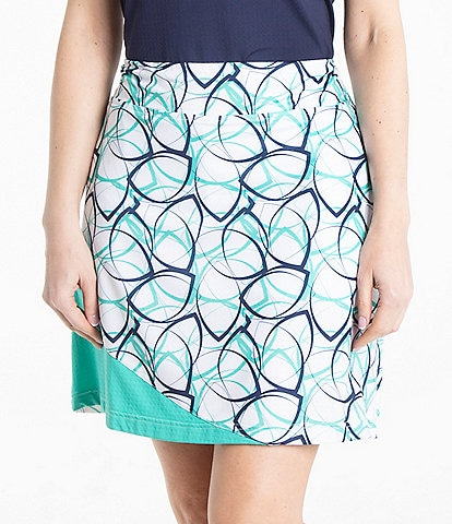 Bette & Court A- line Printed Pull-On Skirt