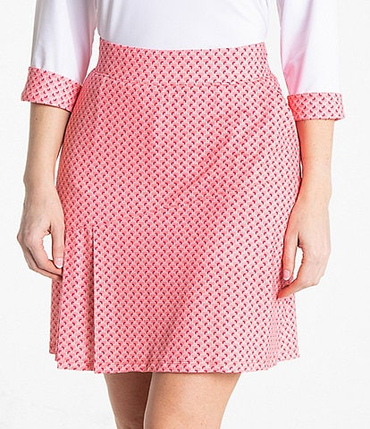 Sport Haley Belle Print Stretch Pull-On A-Line Skirt