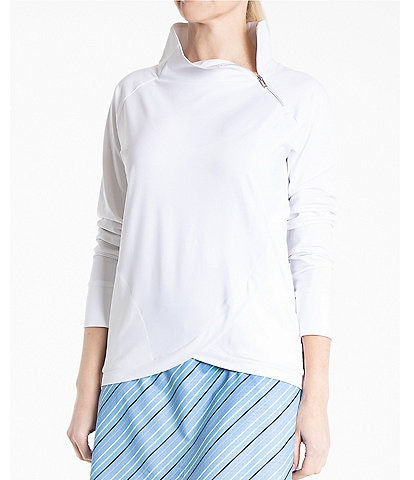 Bette & Court Impulse Long Sleeve Asymmetrical Zip Pullover