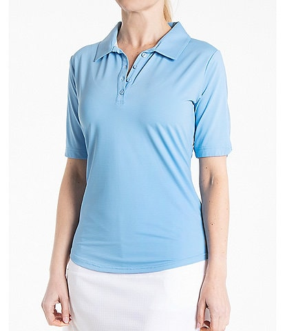 Bette & Court Isla Short Sleeve Collared Polo Top