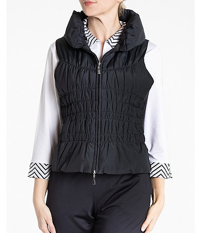 Sport Haley Blair Sleeveless Ruching Detail Zip Vest