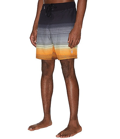 Spyder Men's Elastic-Waist Ombre Color Fade 9#double; Outseam Hybrid Board Shorts