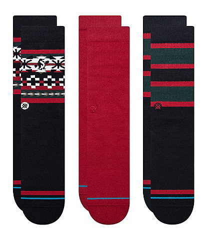 Stance Cheer Up Holiday Crew Socks 3-Pack