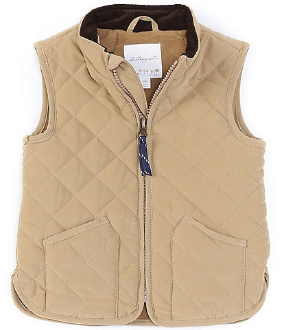 Starting Out Baby 12-24 Months Peached Fleece Lined Quilted Vest