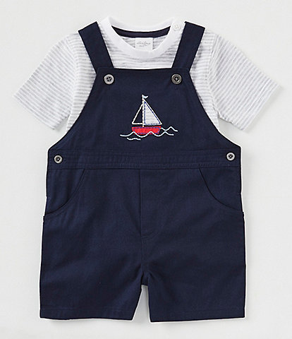 c9540ac725e3 Starting Out Baby Boy Newborn-24 Months Sailboat Detailed Shortall Set
