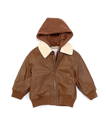 Starting Out Baby Boys 12-24 Months Detachable-Hood Aviator Bomber Jacket