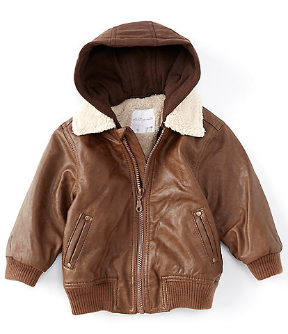 Starting Out Baby Boys 12-24 Months Hooded Aviator Coat