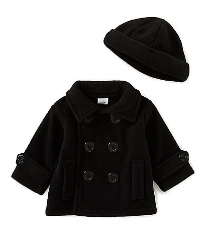 Starting Out Baby Boys 3-24 Months Fleece Double Breasted Peacoat & Hat