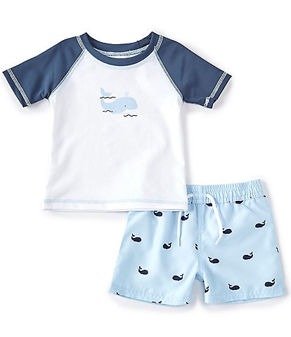 Starting Out Baby Boys 3-24 Months Whale Rashguard Two-Piece Swimsuit Set