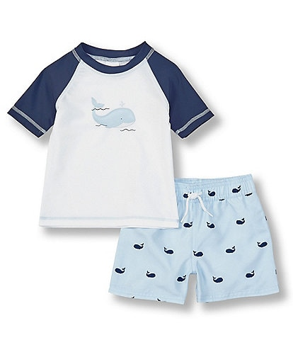 Starting Out Baby Boys 3-24 Months Whale Print Swim Set