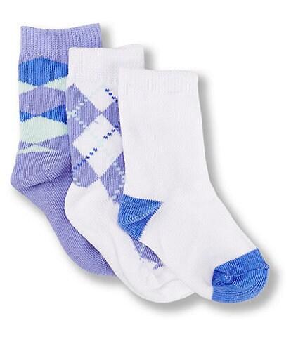Starting Out Baby Boys 3-Pack Argyle Crew Dress Socks