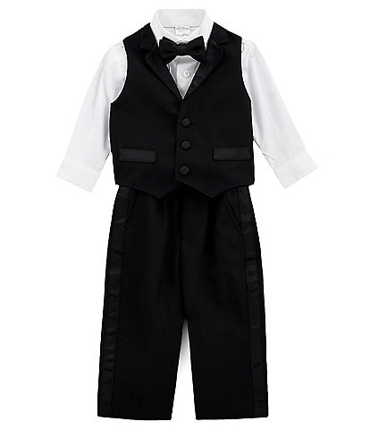 711aedd116eed7 Starting Out Baby Boys 6-24 Months 4-Piece Tux-Vest Set