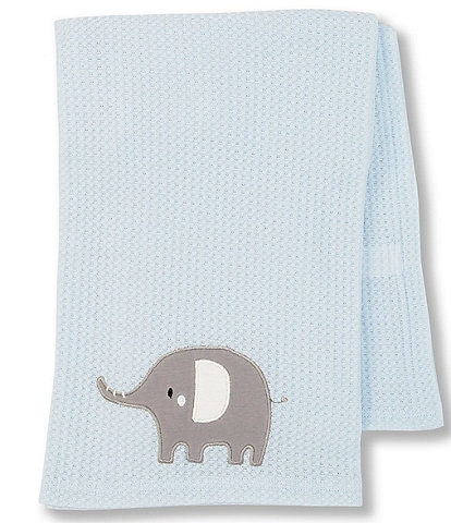 Starting Out Baby Boys Elephant Waffle-Knit Blanket