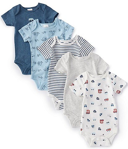 Starting Out Baby Boys Newborn-6 Months Busy Town 5-Pack Bodysuits