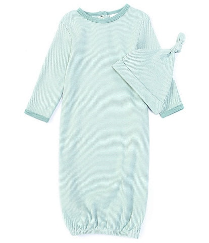 Starting Out Baby Newborn-6 Months Green Stripe Gown