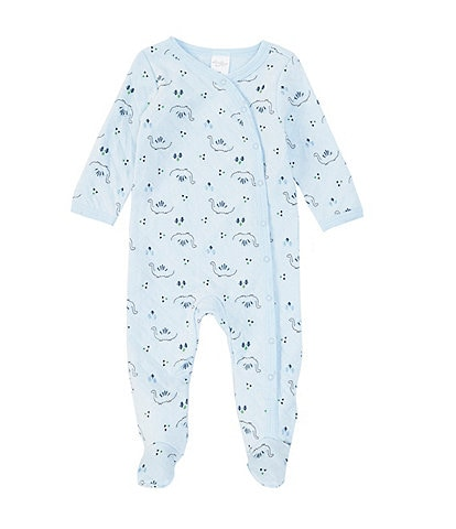 Starting Out Baby Boys Newborn-6 Months Long-Sleeve Dino Quilted Footed Coverall