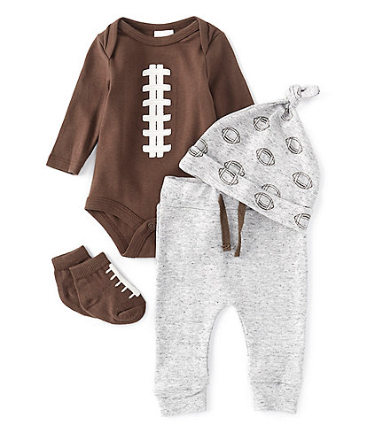 Starting Out Baby Boys Newborn-9 Months Football Layette Set