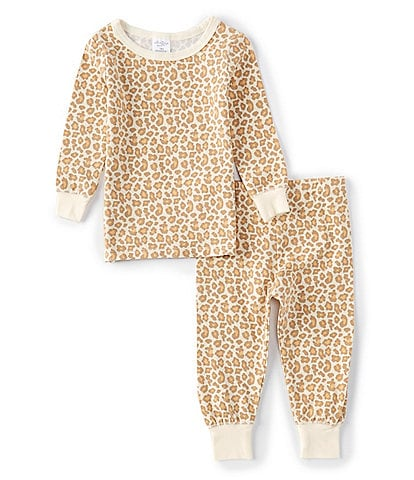 Starting Out Baby Girls 12-24 Months Leopard Print 2-Piece Pajamas Set