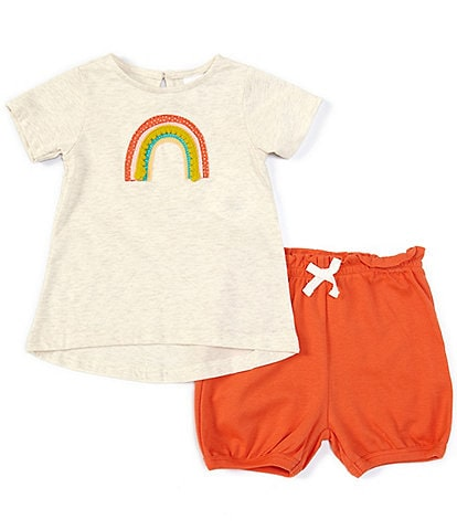 Starting Out Baby Girls 12-24 Months Rainbow Applique Tee & Bloomer Set