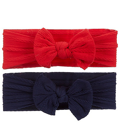 Starting Out Baby Girls 2-Pack Cable-Knit Knotted Headwrap