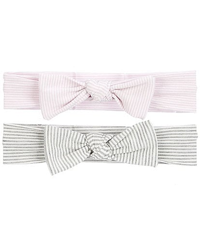Starting Out Baby Girls 2-Pack Stripe Knot Bows