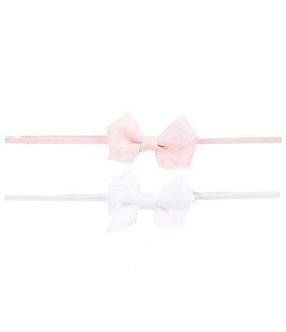 Starting Out Baby Girls 2-Pack Tiny Bow Headwrap