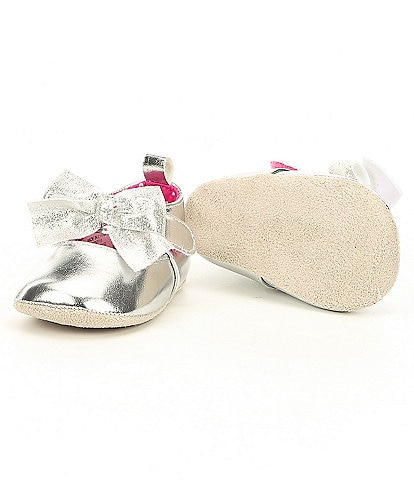 Starting Out Baby Girls 3-12 Months Bow Front Mary Jane Crib Shoes