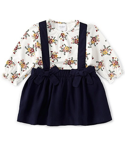 Starting Out Baby Girls 3-24 Months Long-Sleeve Floral Top & Jumper Set