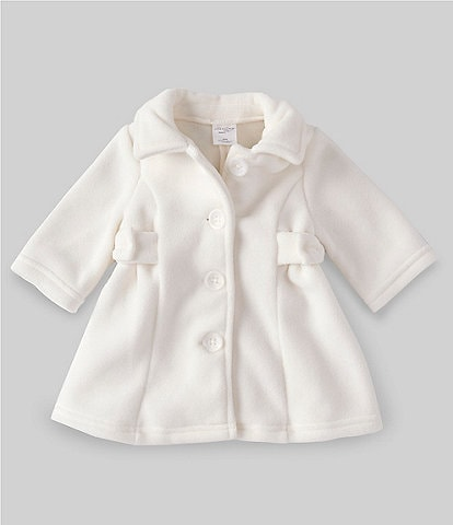 Starting Out Baby Girls 3-24 Months Side-Bow Fleece Coat