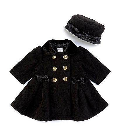 Starting Out Baby Girls 3-24 Months Side-Bows Coat