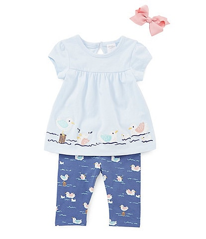 Starting Out Baby Girls 3-24 Months Seagull Tunic & Leggings Set