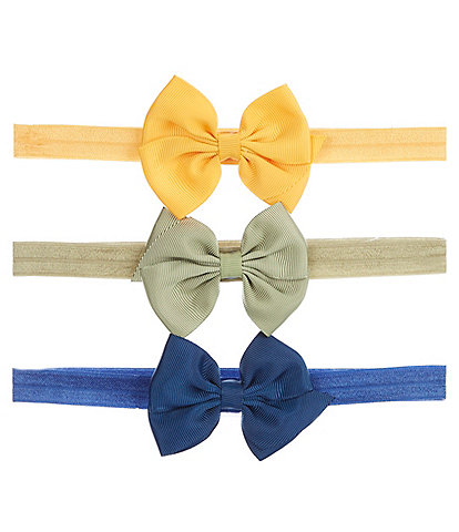 Starting Out Baby Girls 3-Pack Grosgrain Bow Headbands