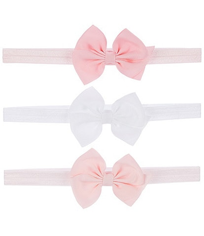 Starting Out Baby Girls 3-Pack Grossgrain Bow Headband
