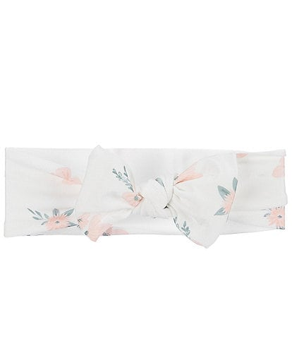 Starting Out Baby Girls Floral Print Knot Bow Headband