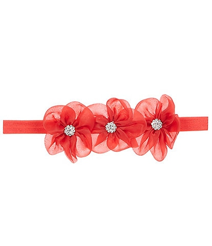 Starting Out Baby Girls Flower-Bow Headwrap